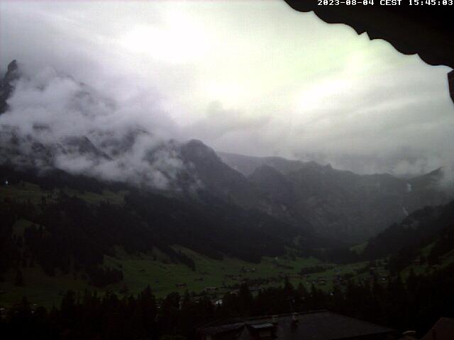 Adelboden Wetter Webcam aus Adelboden vom Chalet Chefihuesi